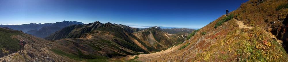 水晶岳からの景色