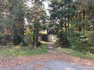 殿島城址公園入り口を東側からみたところ