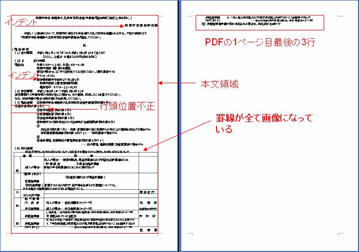 pdf 改行を取ってテキスト変換